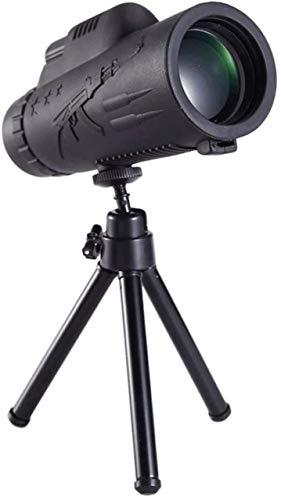 BaiHogi Monoclares para Adultos 40x60 Monocular Profesional de Alta definición Telescopio portátil de Baja luz Impermeable, Compatible con teléfonos Inteligentes (con trípode)