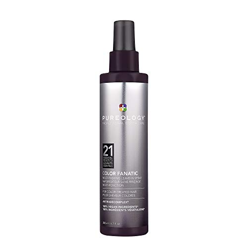 Pureology Color Fanatic Leave-in Conditioner Hair Treatment Detangling Spray | Protects Hair Color From Fading | Heat Protectant | Vegan