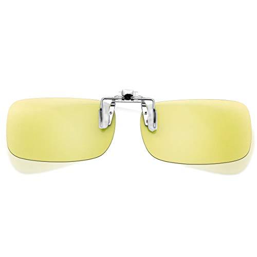 Night Driving Clip on Glasses HD Night Vision Blue Light Blocking Photochromic Polarized Driving...