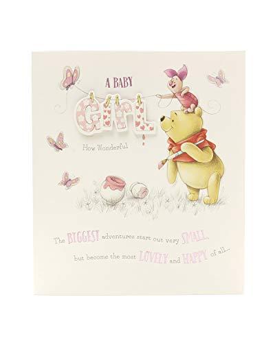 Geburtstagskarte für Kinder Winnie Puuh Baby Girl