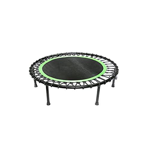 BKWJ Trampolines 40 '' Silent Fitness Trampoline and Trampoline Accessories, Mejor Cardio Urbano Jump Fitness Entrenador de Entrenamiento, límite máximo 250kg / 550 lbs, Azul/Verde/Rojo