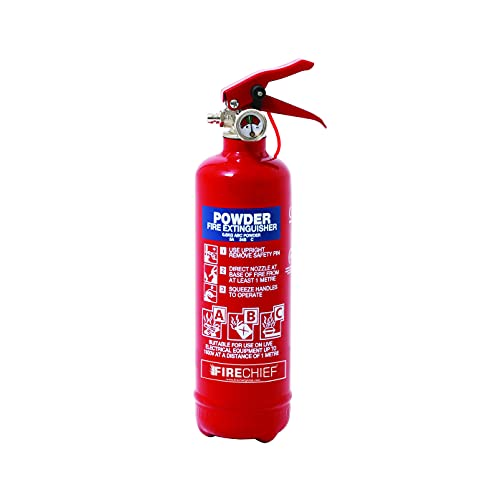 Firechief 600G ABC Powder Fire Extinguisher   Portable Home Fire Extinguisher With Wire Bracket   Powder Fire Extinguisher For Kitchen, Car, Garage And Caravan Safety