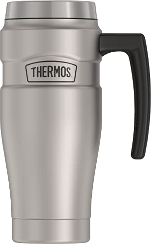 THERMOS Stainless King Vacuum-Insulated Travel Mug, 16 Ounce, Matte Steel