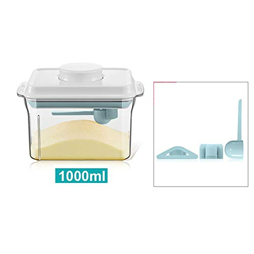 BCGT Storage Containers with Lids, Powder Canister Sealed Jar Storage Bottle Milk Powder Bucket Portable Food Storage Moisture-proof Sealed Box (Color : Brown, Size : 1700ml)