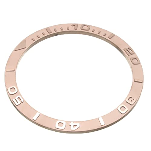 Bisel de reloj de bisel de cerámica Reloj de cerámica ZIZEL ZIRCONIA Relojes impermeables Relojes ANILLOS ANILLOS ANILLOS ANILLOS ACCESORIOS 38 * 31.8 * 1.2mm Unisex Silver Black Gold Fácil de transpo