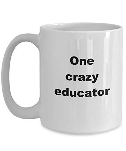 NA Spin Istruttore Regali per Le Donne Tazza Futura educatrice Tazza da caffè Professore di psicologia Tazza in Ceramica Bianca 'Un educatore Pazzo'