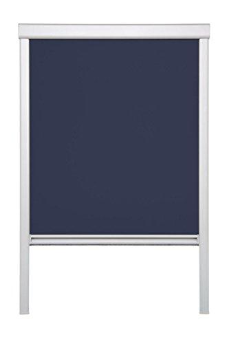 Lichtblick Dachfenster-Rollo Skylight, 61,3 x 100,0 cm (B x L) in Blau, 100% Verdunkelung, Thermo-Rollo für Velux-Fenster, Sonnen-, Hitze- & Sichtschutz (MK06)