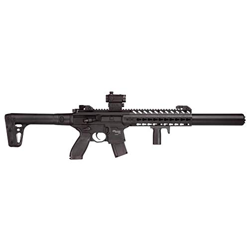 Sig Sauer MCX .177 CAL Co2 Powered (30 Rounds) SIG20R Red Dot Air Rifle, Black (CO2 Not Included)