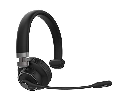 Truck Driver Bluetooth Headset/Office Headset, BT5.0 Wireless Over The Head Headset with Extra Boom Noise Cancelling Mic for Cell Phones,Call Center, Skype, VoIP, Home Work,Trucker