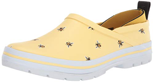 Chooka Women's Madrona Neoprene Waterproof Step-in Shoe with Memory Foam Insole Rain, Buzz Bees Yello, 10