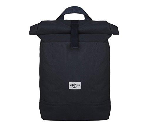 Rucksack Backpack Daypack Roll Top Überschlag Rollover Nylon Kuriertasche (Blau)
