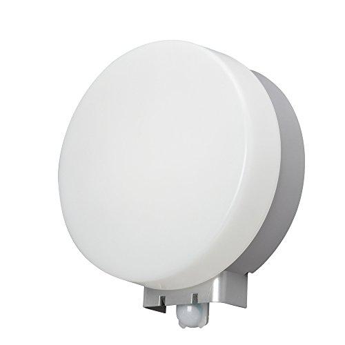 アイリスオーヤマ LEDポーチ灯 人感センサー付 丸型 昼白色 520lm IRBR5N-CIPLS-MSBS