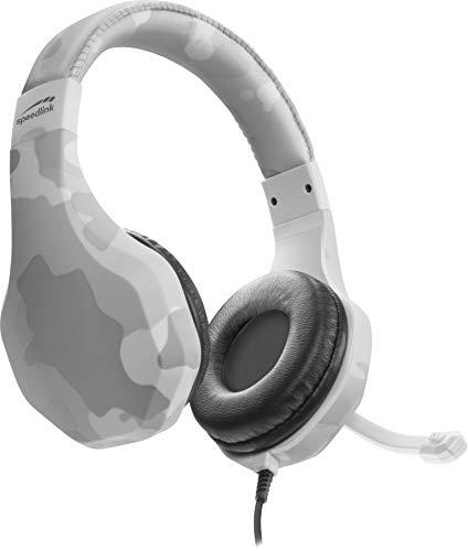 Speedlink RAIDOR Stereo Headset - Gaming Headset/Kopfhörer - Gepolsterte Ohrmuscheln - für Gaming/Konsole/PS4, Camouflage-Design, weiß