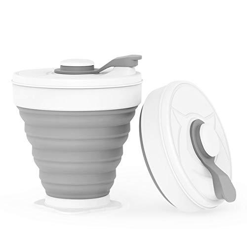 Chendunchishi 2 stks Opvouwbare Siliconen Cup 350ML Opvouwbare Melk Water Cup Outdoor Reizen BPA Gratis Opvouwbare Koffie Cup