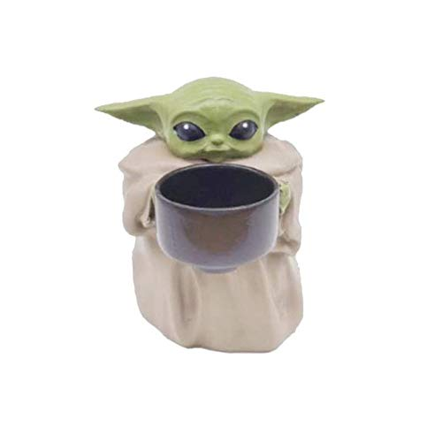 Baby Yoda Small Planter Pot, 4.2''The Child Holding Cup Creative Resin Ornament Flower Pot with...