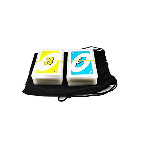Naipes de Plástico Impermeables Fáciles de Barajar, Cartas de Póquer Blancas Frías para Juegos y Fiestas, con Bolsa de Almacenamiento