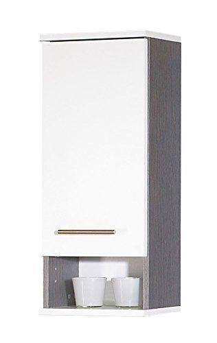 Schildmeyer Rocki 118029 Hängeschrank 30 x 70,5 x 20,5 cm, weiß / esche grau Dekor