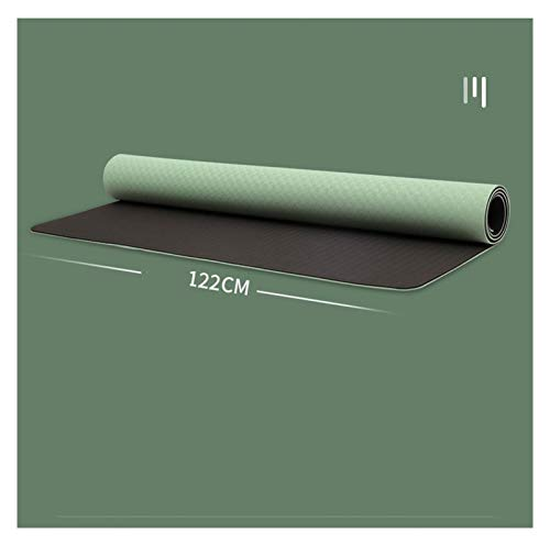 LDH Esterilla Yoga Ultra Ancho, Estera de Entrenamiento de Dos Personas, Estera de Interacción para Padres Y Niños Antideslizantes, Estera de Juego Infantil Impermeable 185 * 122 Cm (Size : 6mm)