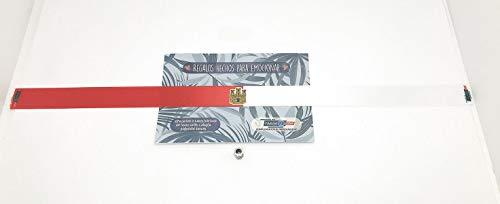 Tarja 73 | Pulsera De Tela Con mensaje: BANDERA DE LA COMUNIDAD AUTÓNOMA DE CASTILLA LA MANCHA | Regalo Original