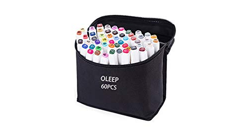oleep 60 color Touch cinco arte dibujo marcadores de doble punta ampli
