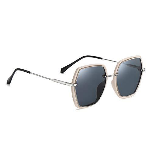 Zonnebrillen, Grijs Oversized Gepolariseerde Vrouwen Vierkant Mode Dames Zonnebrillen Vrouwelijke Gradient Eyewear Goggles Uv400 Voor Outdoor Sport Golf Vissen Rijden Mountain Biking