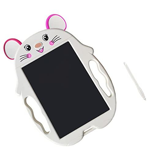 SOLUSTRE Pizarra LCD para Escribir Dibujar Tablet Alfombrilla Blanca Ratón Doodle Almohadilla para Niños Almohadillas Portátiles para Pintar Aprendizaje Escritura Juguete Educativo 18X26CM