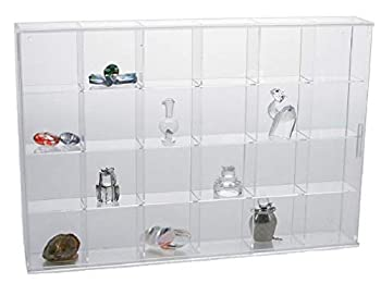 SAFE Miniature Figurine Display Case Large with 24 Compartments