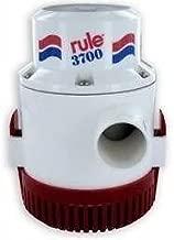 Rule 14A 3700 GPH Heavy Duty Bilge Pump, Non-Automatic, 12 Volt , White/Red