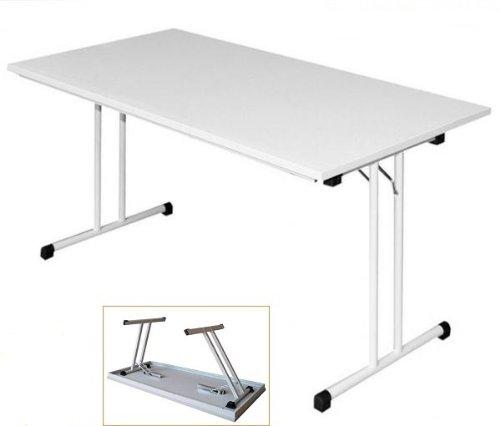 KLAPPTISCH Besprechungstisch Kantinentisch Verkaufstisch Schreibtisch 160x80 Platte Lichtgrau/Stahl-Gestell Lichtgrau 350520