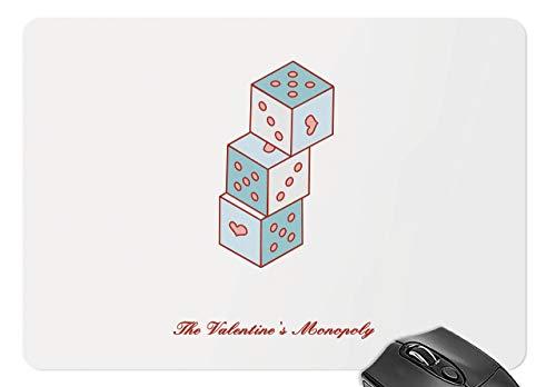 Mausmatte valentinstag - liebeswürfel mousepad