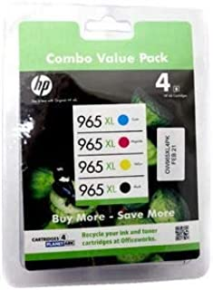 HP 965XL Ink 4 Packs for HP OfficeJet 9018, 9016, 9019, 9012, 9020, 9028, 9026 AiO Print NES