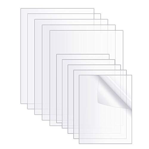 Gaosaili 10 Stücke Transparente Acryl Blätter, Acrylplatten Acrylglas Transparentes für Ersatzglas von Fotorahmen, Projektausstellung (10 x 8 x 0.04 Zoll & 7 x 5 x 0.07 Zoll)