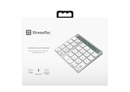 XtremeMac XMNUMBTCAL Aluminium Bluetooth Numerical And Calculator Keypad With Digital Screen