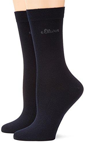 s.Oliver Damen Socken 2-er Pack, S20002, Gr. 35-38, Blau (04 navy)