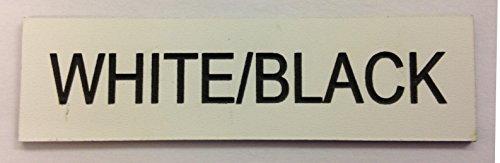 Graviertes Mitarbeiter-Namensschild, für Schule, Bar, Restaurant, Fabrik, Unternehme, Büro etc., acryl, weiß, RECTANGLE 75x25mm