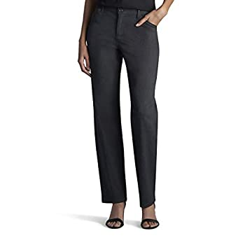 LEE Women's Relaxed Fit All Day Straight Leg Pant 14 Charcoal Heather