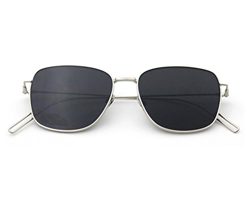 Tansle Flat Board Damen Sonnenbrille, superfeiner Rahmen, einfacher Stil, Schwarz
