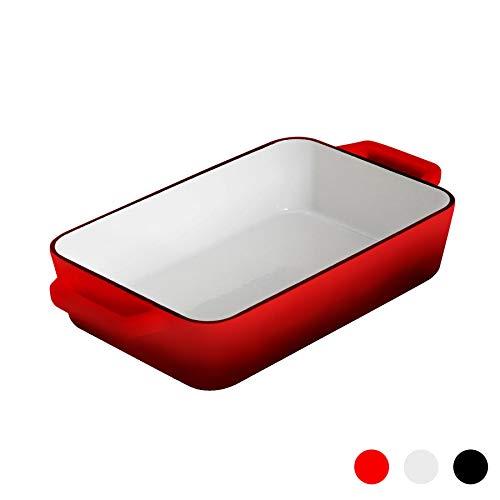Argon Tableware Plat à rôti en Fonte - émail Rouge - 305 x 200 mm