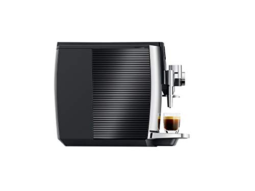 JURA E8 Chrome Automatic Coffee Machine 11 The new Jura E line is revolutionizing the enjoyment of coffee in every aspect. The espresso brewing process has been perfected. The Pulse Extraction Process is the only process of its kind in the world. It optimizes the extraction time and guarantees the very best aroma even for short specialty coffees. CLEARYL Smart provides water of perfect quality for the best possible flavor. Filter usage has never been easier because the Intelligent Water System automatically detects filter presence.