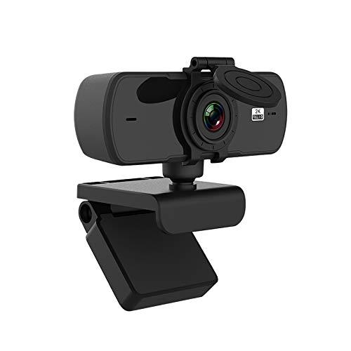 4 millones de píxeles 1080 p micrófono webcam ajustable USB cámara de transmisión con cubierta para PC portátil Tablet PC
