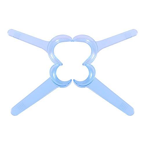 Lot de 8 Écarteurs de Joue / Ouvre-Bouches HEALIFTY pour le Blanchiment des Dents - Bleu Transparent (Bleu)