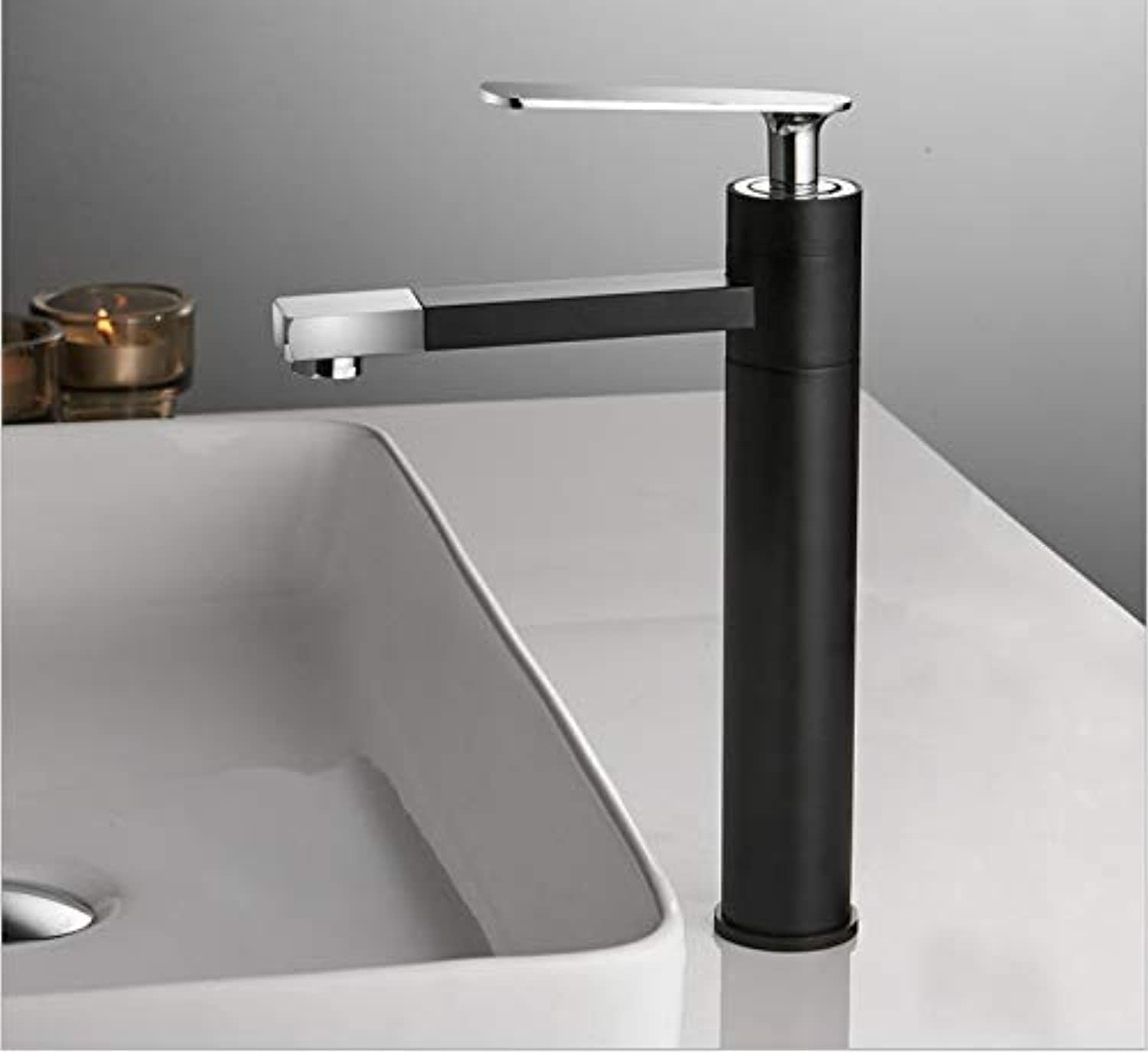 ROKTONG Taps Taps Taps Black Basin Hot And Cold Single Hole Faucet Copper Above Counter Basin Bathroom Sink Sink Faucet Can Be redated