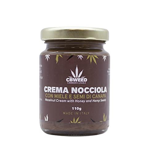 CBWEED - Crema alla Nocciola con Miele e Semi di Canapa - 110 g - Made in Italy