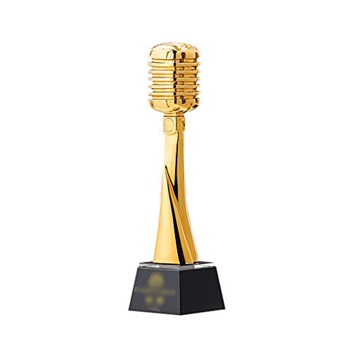 Trofeos Micrófono Dorado Premio Trigo Dorado micrófono Concurso de Canto Personalizado Premio de presentador de música