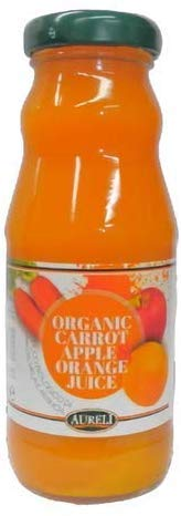 イタリア産 オーガニックキャロットジュース アップル&オレンジ 200ml アウレーリ…
