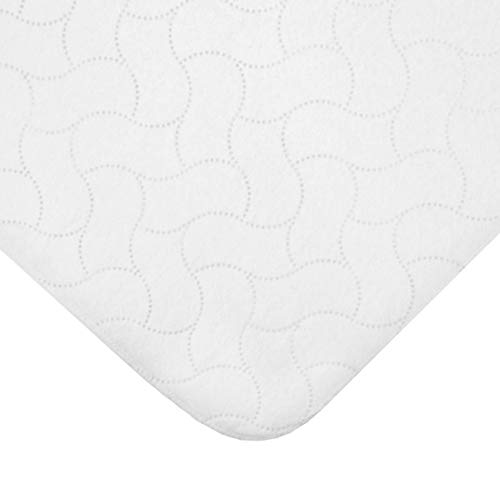 TL Care Waterproof Quilt-Like Flat Reusable Portable/Mini-Crib Size Protective Mattress Pad Cover for Babies, Adults & Pets, White, 24' x 38'