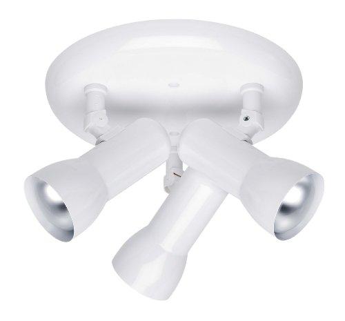 Brilliant LH00000052 Plafonnier 3 Lumières 50 W E27 Blanc Colin