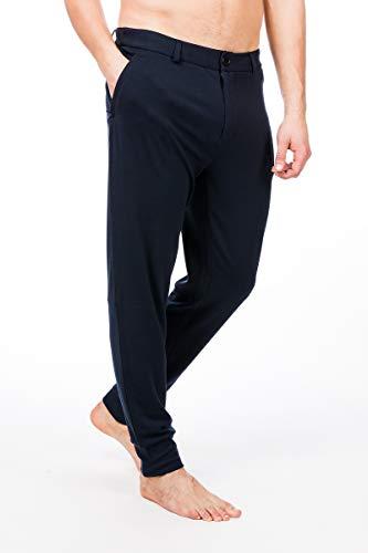 Super.Natural Pantalon de Jogging Confortable pour Homme en Laine mérinos Taille M L Blazer Bleu Marine.