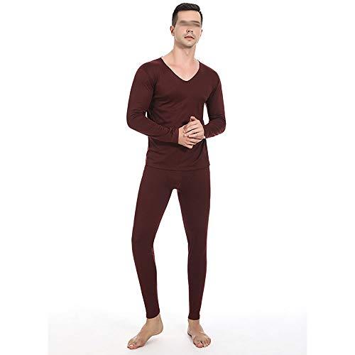 Thermo-ondergoed voor heren, gevoerd ski, winter warm bovendeel en kousen, thermo capable voor outdoor, te dragen rood, ideaal voor luiers