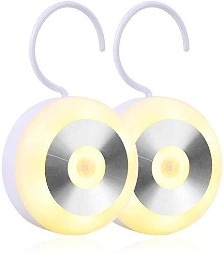 Sensor inteligente LED luz nocturna, sensor de movimiento lámpara infrarroja humana con almohadillas adhesivas, 3 modos de luz nocturna